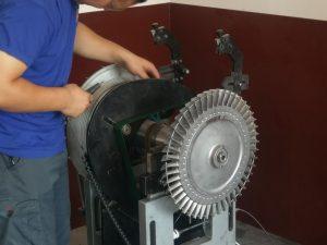 Балансиране на централна част на локомотивен турбокомпресор, D.G. Турбо сервиз